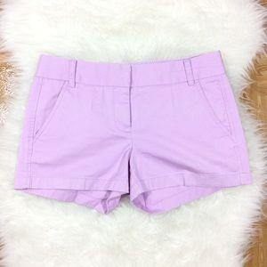 J. CREW Purple Chino Shorts 2